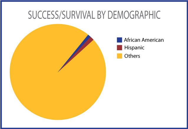 Success/survival rates by demographic image